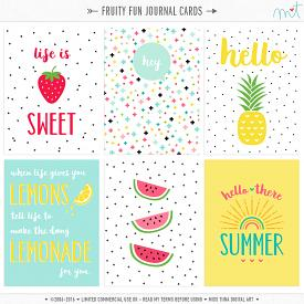 Fruity Fun Journal Cards (CU)
