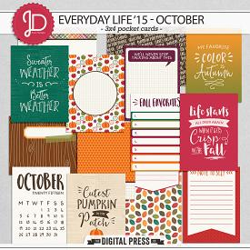 Everyday Life '15 - October | 3x4 Cards