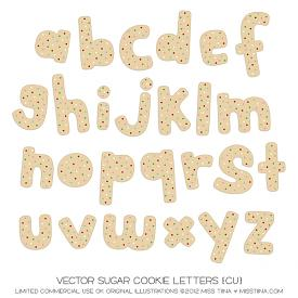 Christmas Sweets Sugar Cookie Letters (CU)