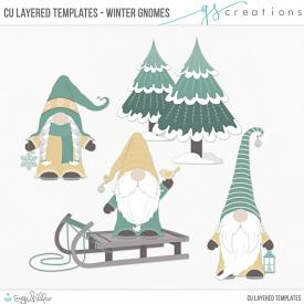Winter Gnomes Layered Templates (CU)