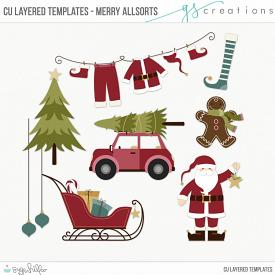 Merry Allsorts Layered Templates (CU)