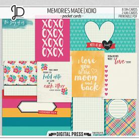 Memories Made | XOXO -  Pocket Cards