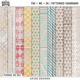 You + Me = Us | Patterned Cardboard