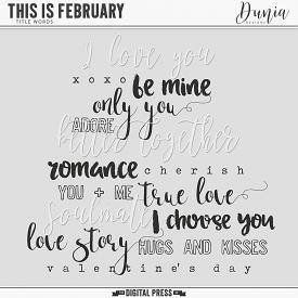 This is February | Title Words