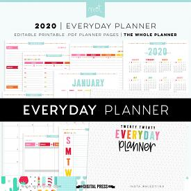 2020 Everyday Planner WHOLE - NOW EDITABLE