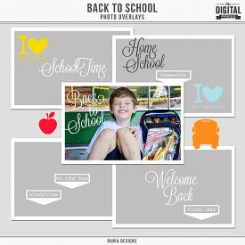 Back to School - Photo Overlays