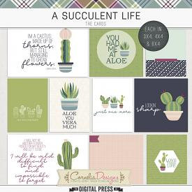 A SUCCULENT LIFE | POCKET CARDS