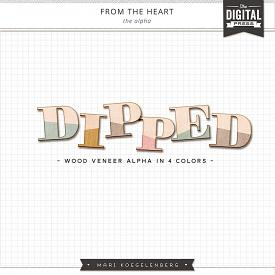 From the Heart | Dipped Wood Veneer Alphas