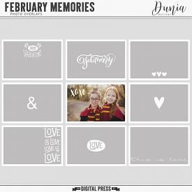 February Memories | Photos Overlays