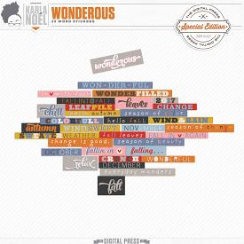 Wonderous | Word Stickers