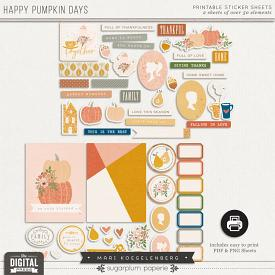 Happy Pumpkin Days | Printables