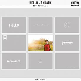 Hello January - Photo Overlays