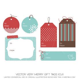 Very Merry Gift Tags (CU)