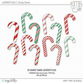 CU | Layer Styles : Candy Canes