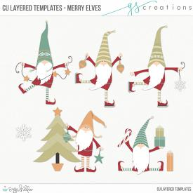 Merry Elves Layered Templates (CU)