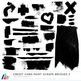 Credit Card Paint Scrape Brushes 2 (CU)