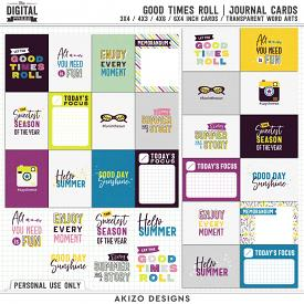 Good Times Roll | Journal Cards