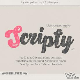 Big Stamped Alpha | Scripty V.2