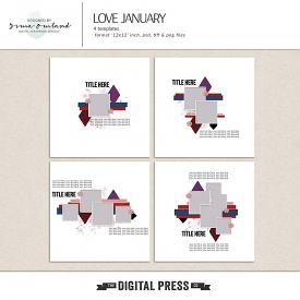 Love January - templates