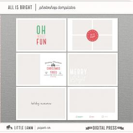 All Is Bright | Photoshop Templates