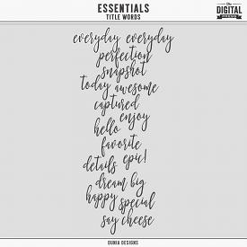 Essentials | Title Words