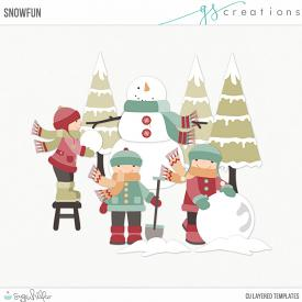 Snow Fun Layered Templates (CU)