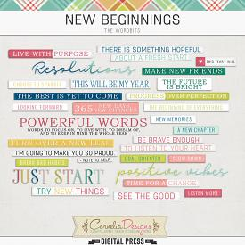 NEW BEGINNINGS | WORDBITS