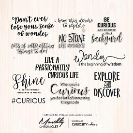 Monthly Chronicles | Curiosity Word Art & Extras