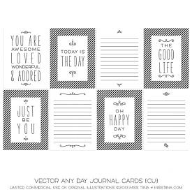 Any Day Journal Cards (CU)