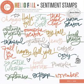 Hello Fall | Sentiment Stamps