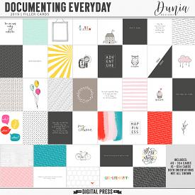 Documenting Everyday (2019) Filler Cards