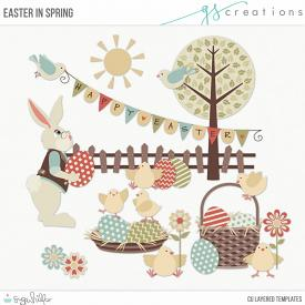 Easter in Spring Layered Templates (CU)