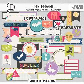 This Life | April - Stickers