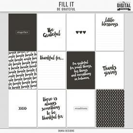 Fill It (Be Grateful) Journal Cards