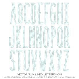 Slim Lined Letters (CU)