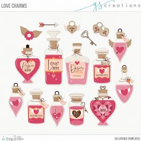 Love Charms Layered Templates (CU)