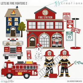 Let's Be Fire Fighters2 Layered Templates (CU)