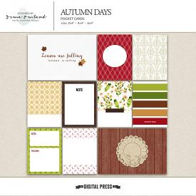Autumn Days - Journaling Cards