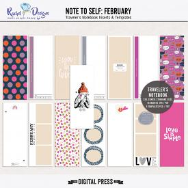 Note To Self February | Traveler's Notebook