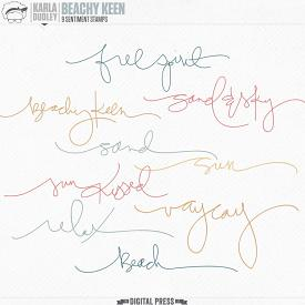 Beachy Keen | sentiment stamps