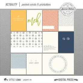 Actuality | Pocket Cards & Printables
