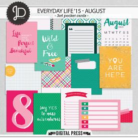 Everyday Life '15 - August | 3x4 Cards
