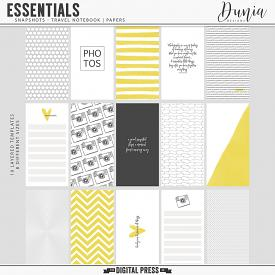 Essentials | Snapshots - Travel Notebook Papers