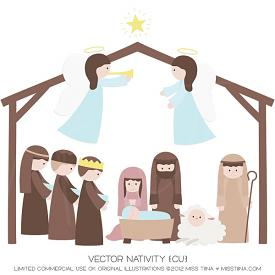 Christmas Nativity (CU)