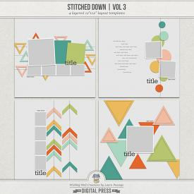Stitched Down (Volume 3) | Templates