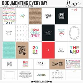 Documenting Everyday 2021 | First and Last Page Cards
