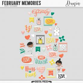 February Memories | Puffy Stickers