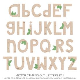Camping Out Letters (CU)