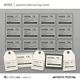 Wicked│Label and Tag Maker Kit