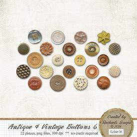 Antique and Vintage Buttons, Volume 6